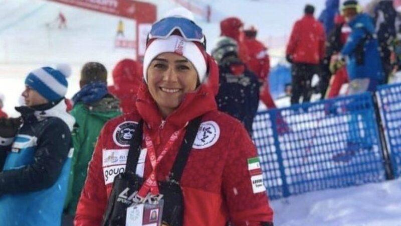 Samira Zargari, head coach of the national ski team, was barred by her husband to leave Iran