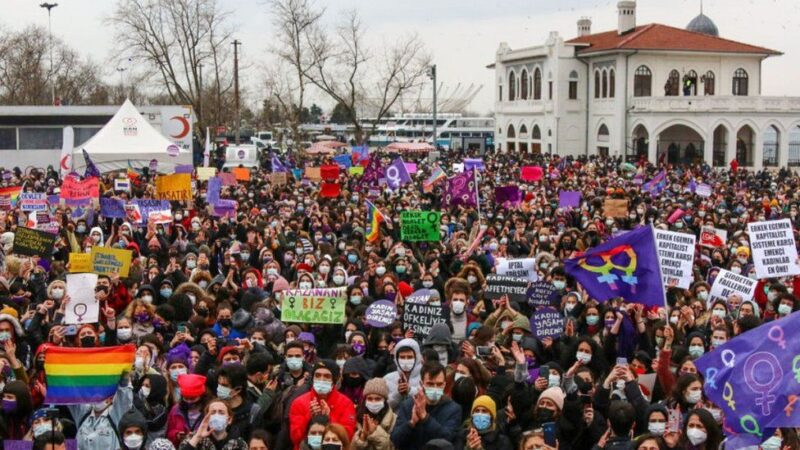 Turkey pulls out of treaty protecting women from violence