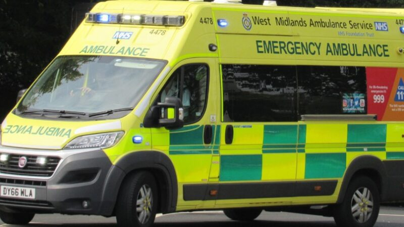 A woman died after waiting three and a half hour in an ambulance in Birmingham