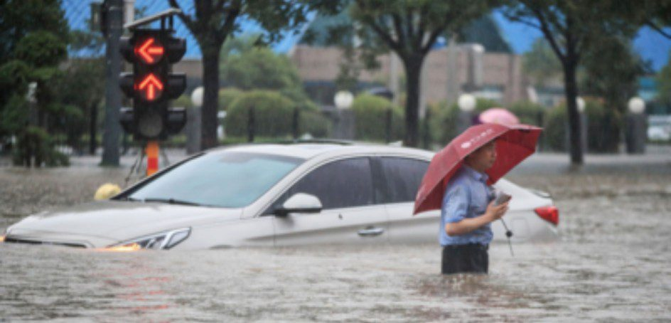 Heavy rain in Central China, killing 12
