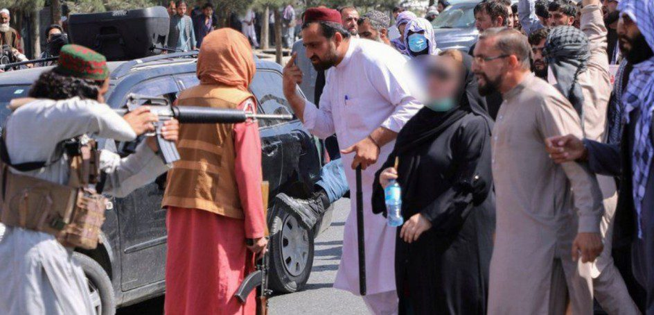 Women were beaten by the Taliban for demanding their rights